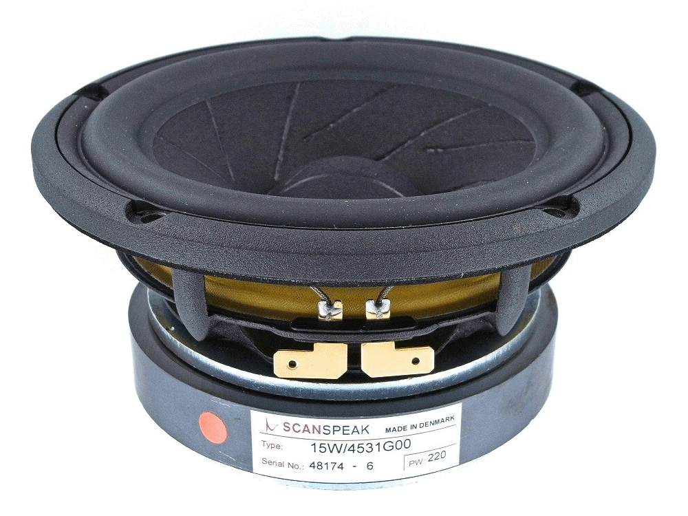 15W/4531G00 -  5.25 inch woofer low loss linear suspension sliced paper cone