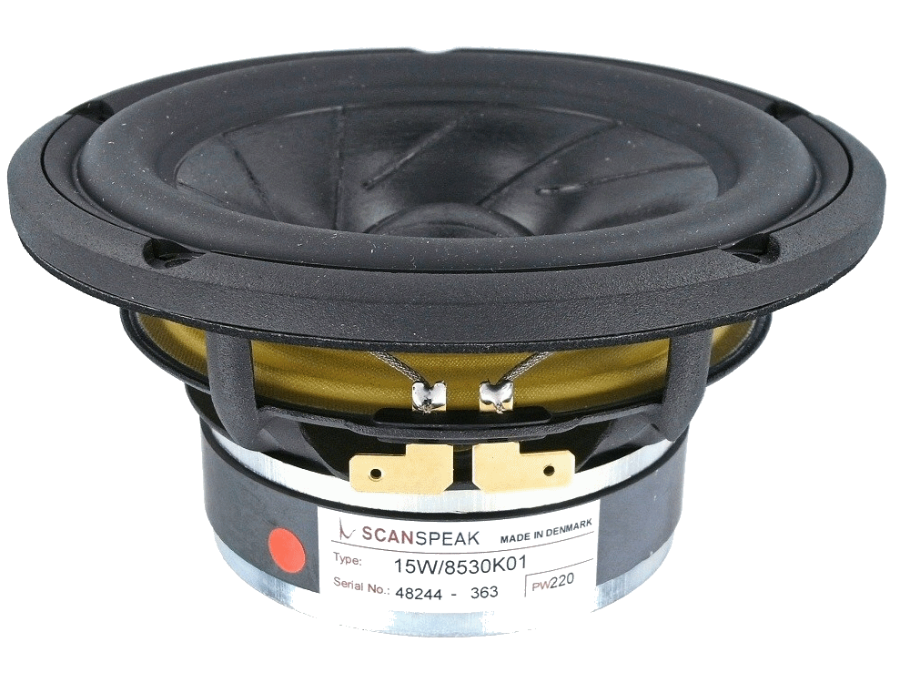 15W/8530K01 -  5.25 inch woofer low loss linear suspension sliced paper cone