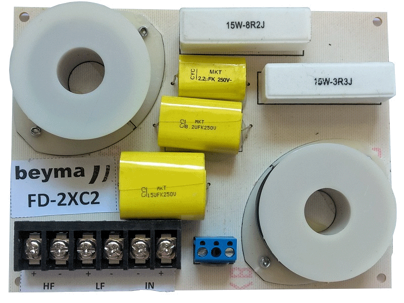 FD2XC2 -  2 way PA crossover filter 2 kHz 12dB 600W